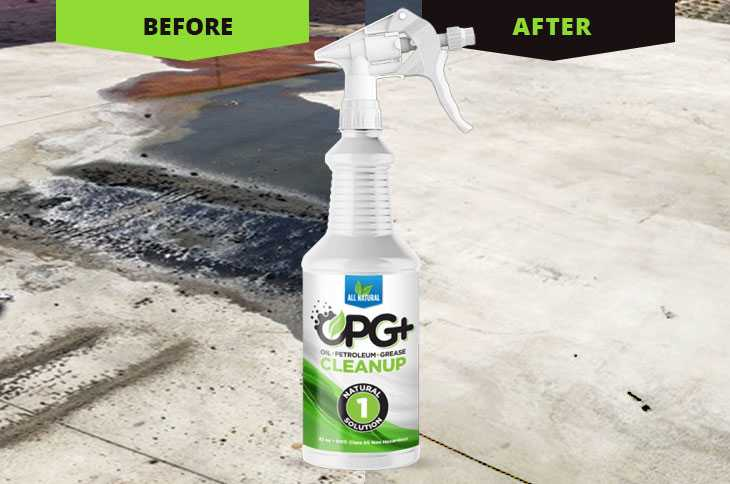 OPG+ for clean up of oil spill on your driveway photo