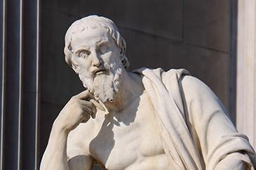 Roman Philosopher Statue photo