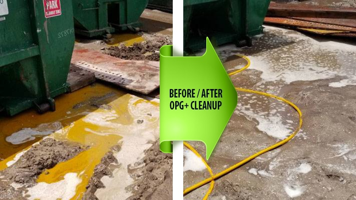 Hydraulic Oil Cleanup before and after photo