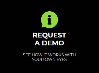Request A Demo button graphic