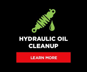 Hydraulic Oil Cleanup button graphic