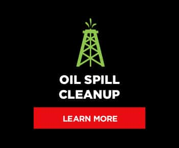 Oil Spill Cleanup button graphic