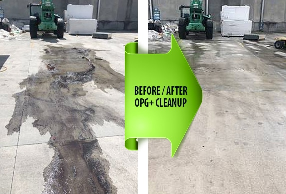 Petroleum Cleanup before and after photo
